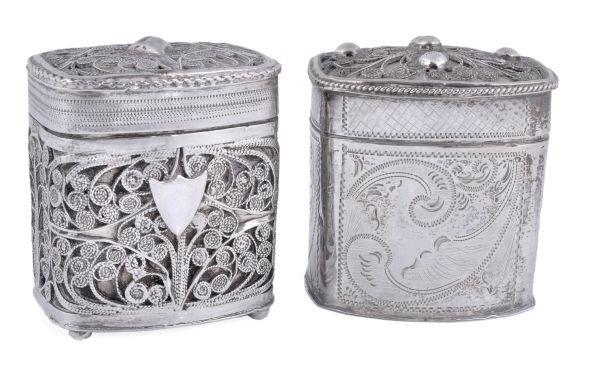 A 19th century Dutch silver oblong loderein box,