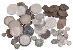 British and World coins silver and base  mostly