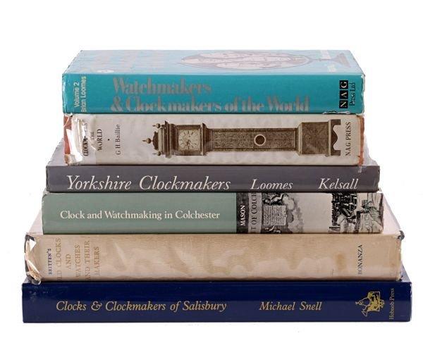 British clockmaking - six volumes: Snell, Michael