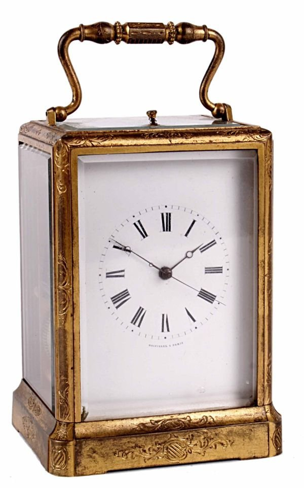 A fine French engraved gilt brass centre seconds c