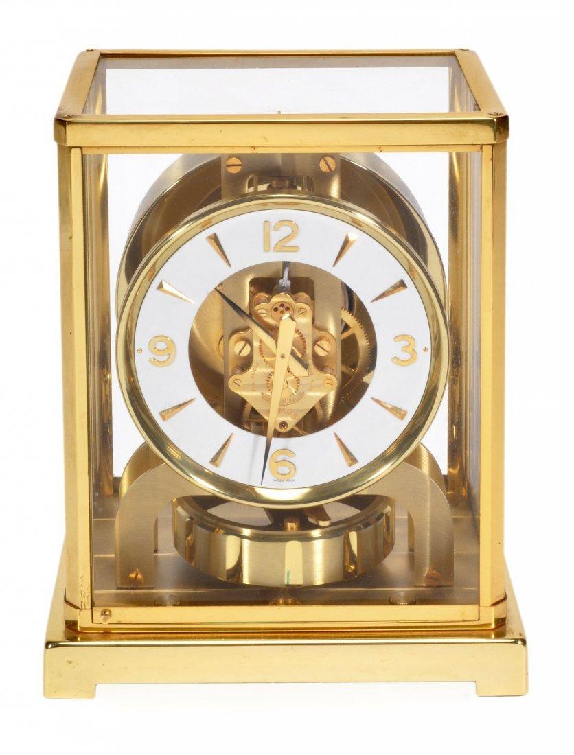 A gilt brass 'Atmos' timepiece Jaeger-LeCoultre, m