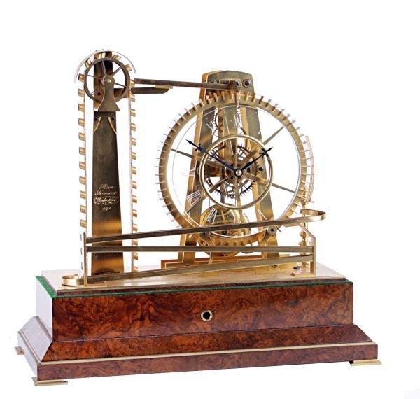 An English gilt brass constant force waterwheel ti