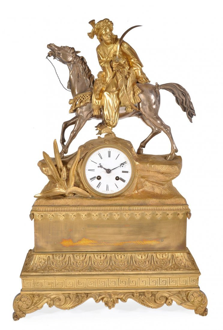 A French Louis Philippe parcel silvered ormolu fig