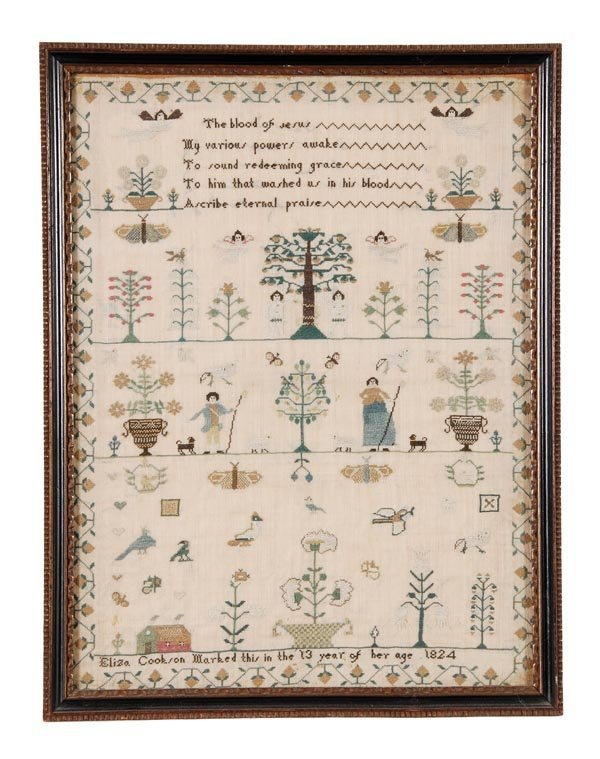 Eliza Cookson, a needlework sampler worked in the 13th