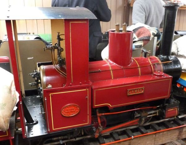 A well engineered 7 ¼ inch gauge Romulus 0-6-0 nar