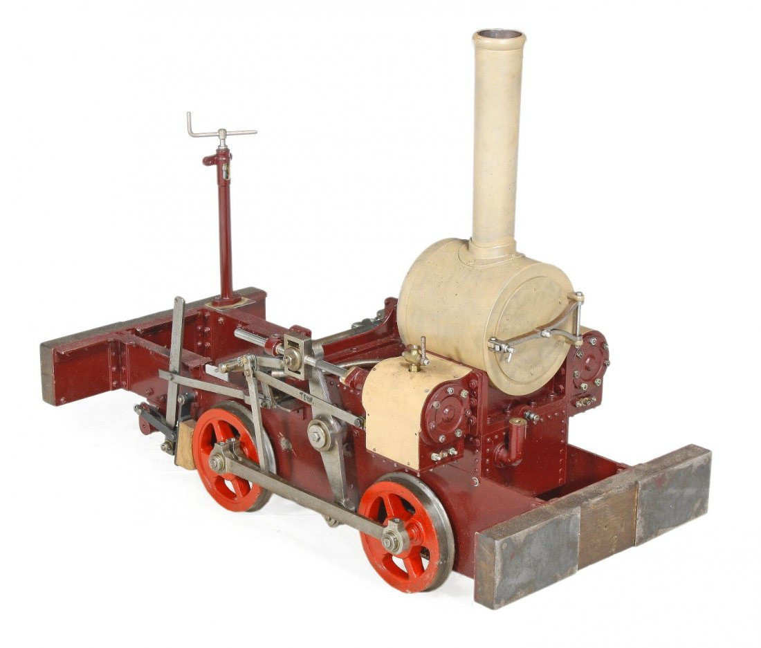 A part-built 7 1/4 inch gauge 0-4-0 narrow gauge d
