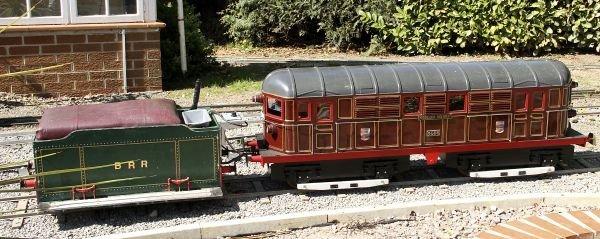 A 7 1/4 inch gauge Metropolitan diesel-electric lo