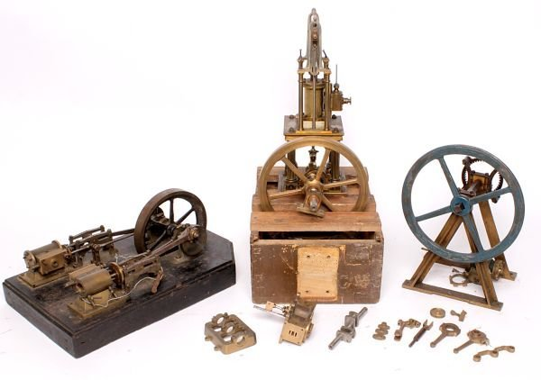 Four part-built and dismantled live steam model st