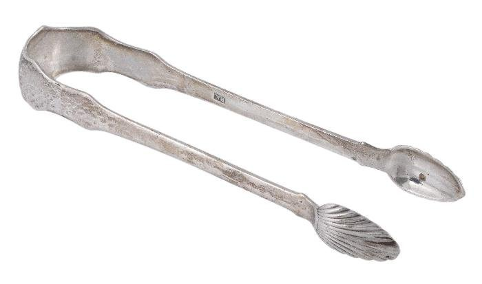 A Victorian Scottish provincial silver sugar tongs