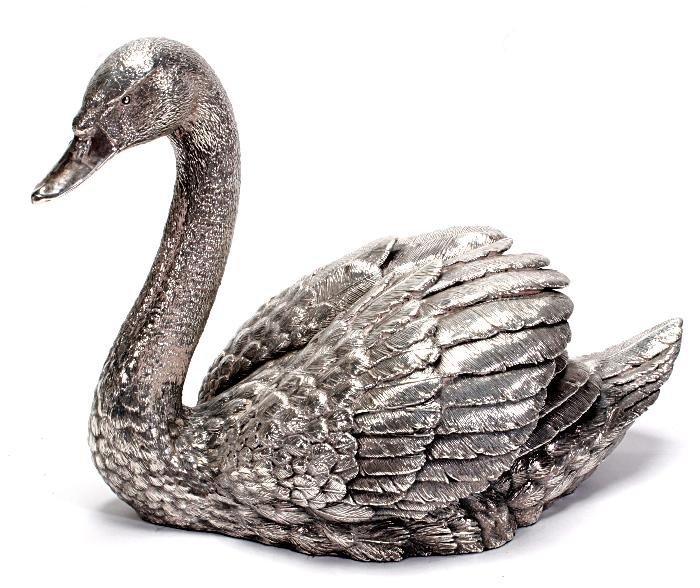 P Swan Ltd A silver filled model ...