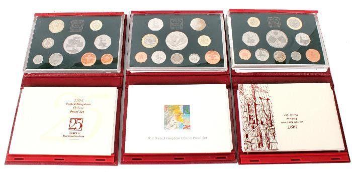 Elizabeth II, deluxe proof year sets (3),  1996, 1