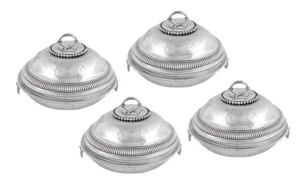 A matched set of four late George III silver circu