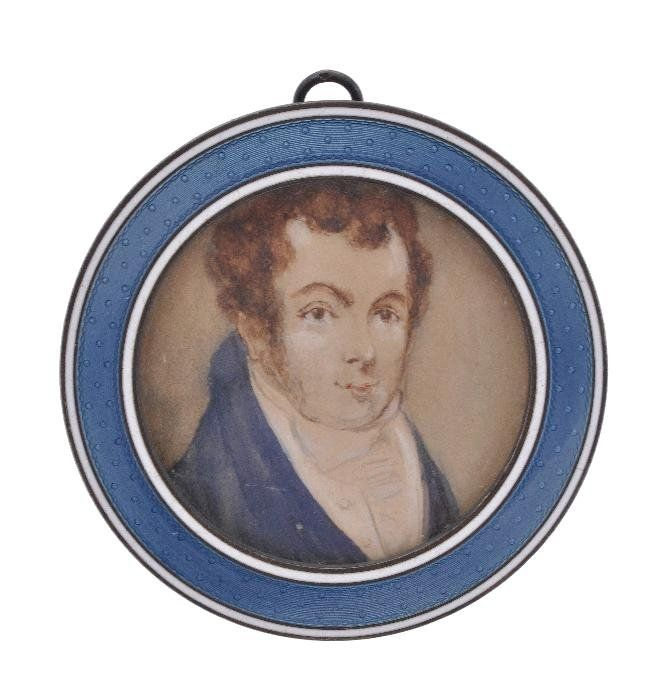 A French silver and guilloche enamel circular smal