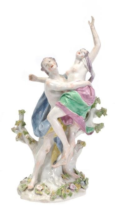 A Chelsea porcelain model of Boreas and Oreithyia,