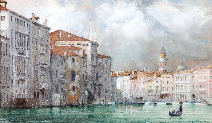 Jonathan Pike (b. 1949) The Grand canal, Venice Wa