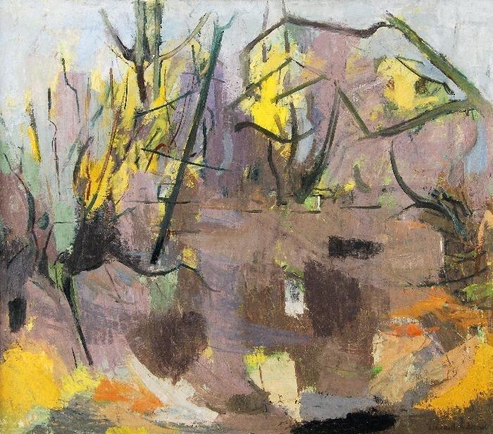 Richard Robbins (b.1927) Willow Pond in Early Spri
