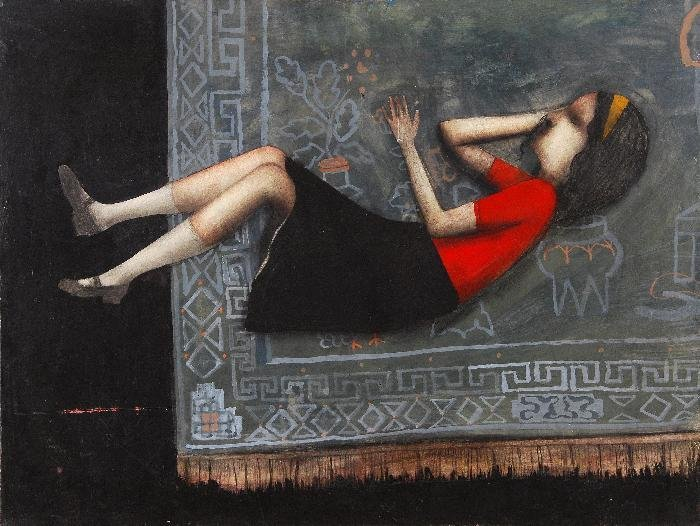 Lewin Bassingthwaite (1928-1983) Girl on a Carpet