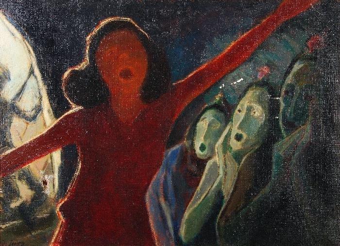 Jo Jones (1894-1989) Gypsy Child Dancing Oil on ca