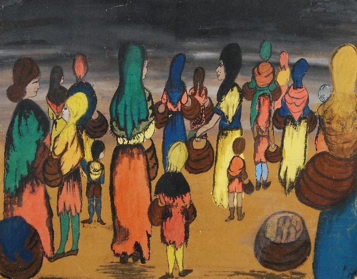 Jacob Lawrence (1917-2000) Women and children with