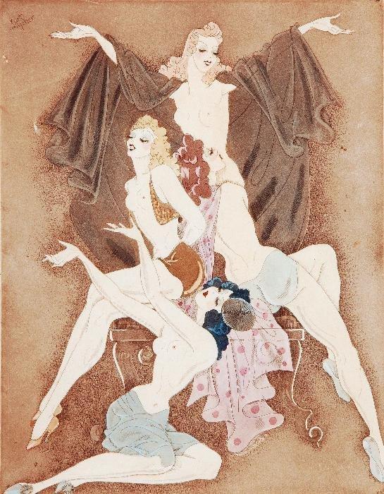 Kurt Hilscher (1904-1981) Reine Colour etching wit