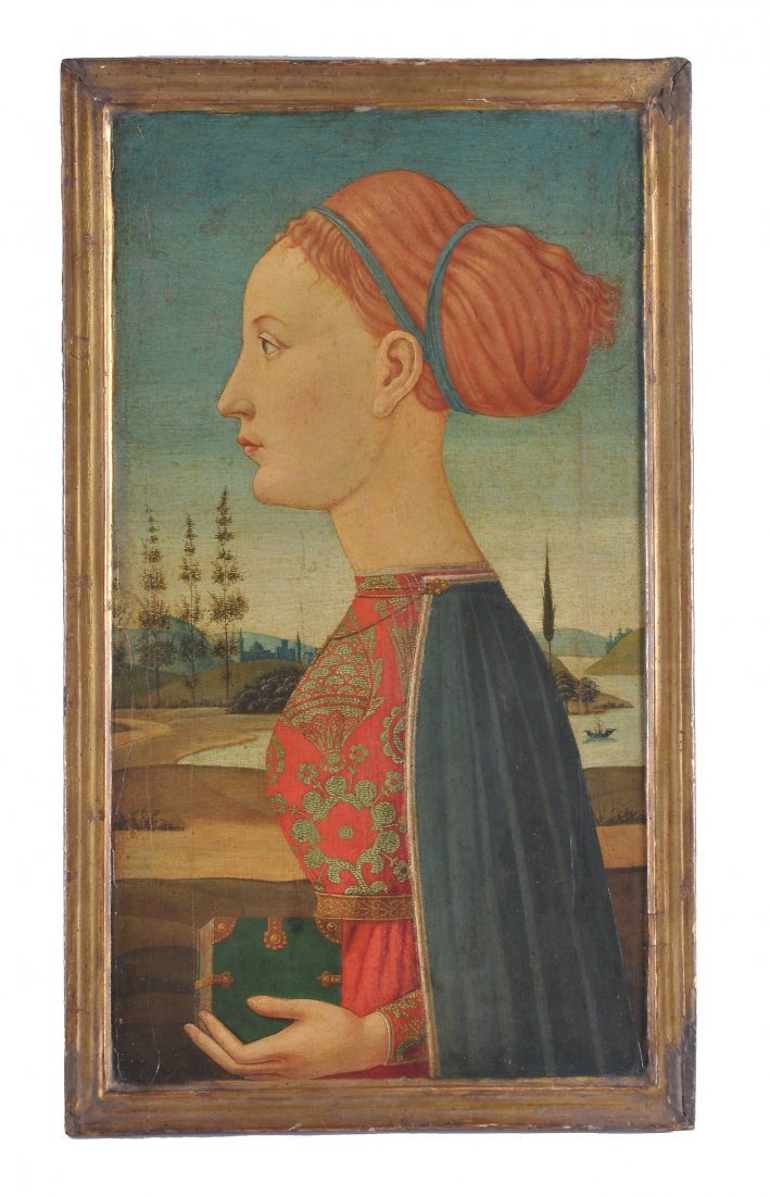 Manner of Piero Pollaiuolo - Profile of a woman, w