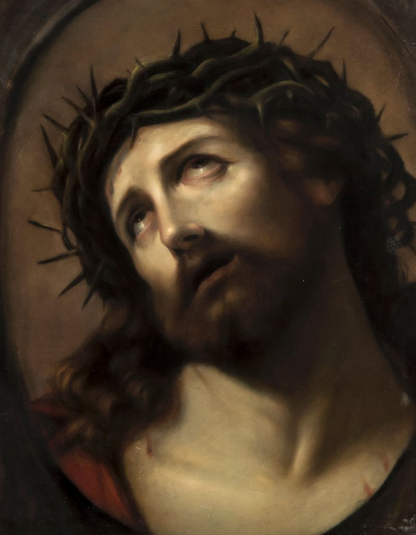 After Guido Reni - Head of Christ Crowned with Tho