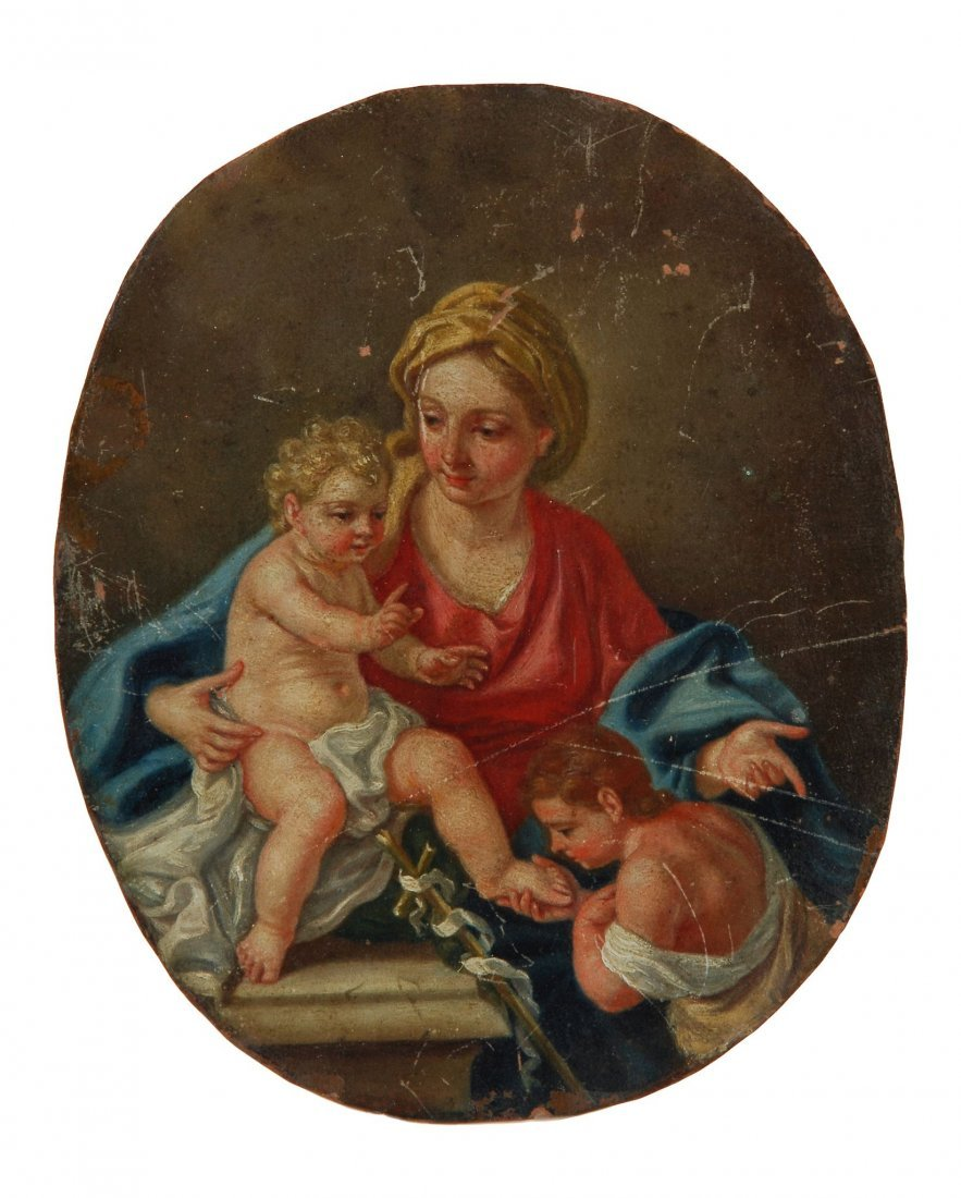 Circle of Francesco de Mura - Madonna and Child wi
