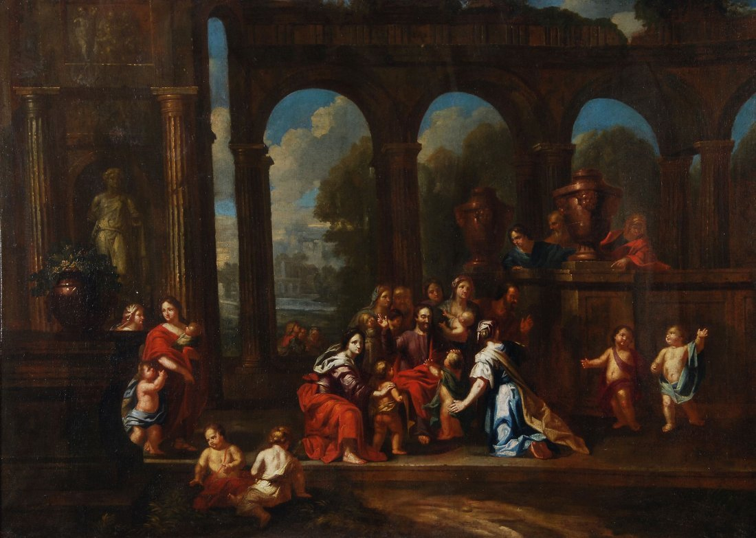 Circle of Charles le Brun - Christ blessing the ch