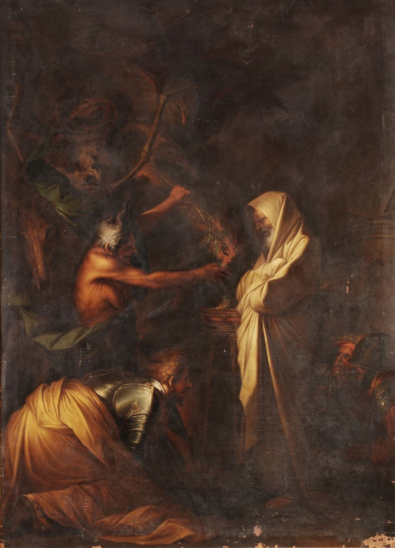 Circle of Salvator Rosa - Saul and the Witch of En
