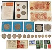 Victoria to George VI mixed silver coinage compri