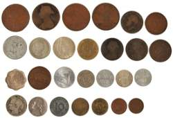 British Empire and World coinage mostly base 19th
