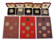 Elizabeth II Royal Mint proof year sets  1970