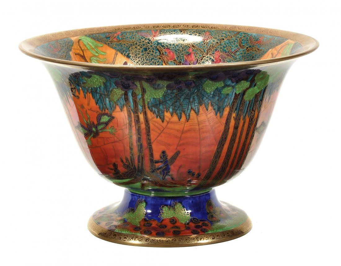 A Wedgwood Fairyland lustre pedestal bowl , designed by