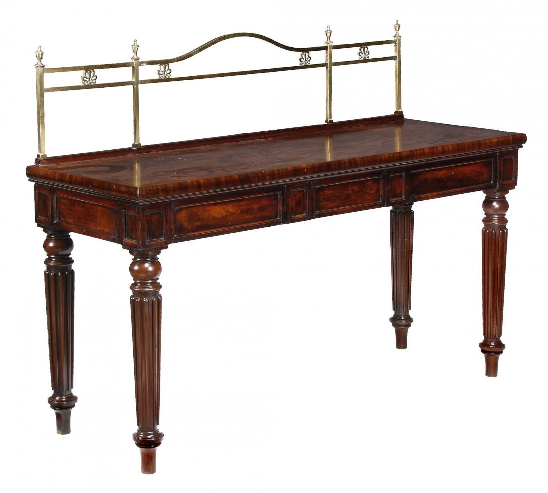 A George IV mahogany breakfront serving table, circa