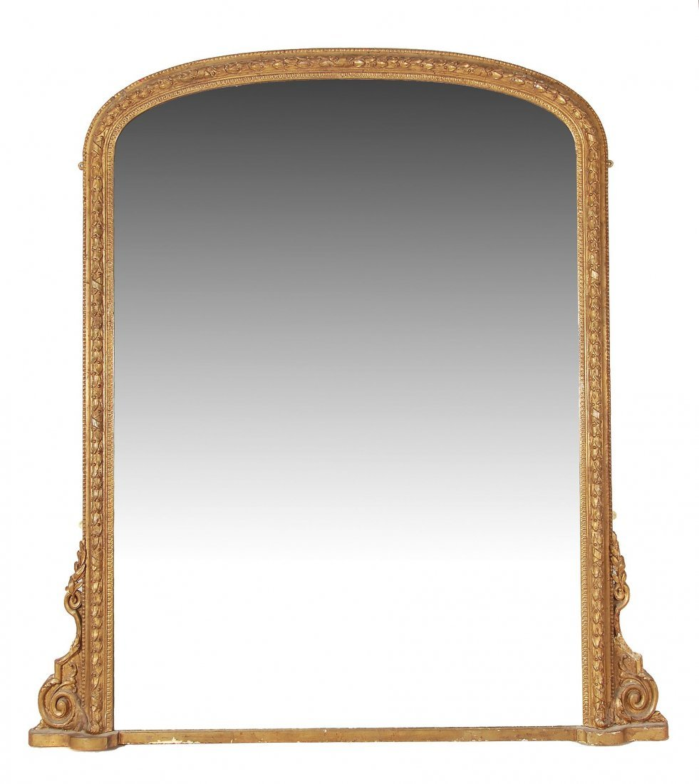 A Victorian giltwood and composition overmantel mirror