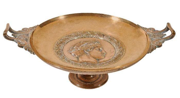 After Ferdinand Levillain (1837-1905), a bronze tazza,