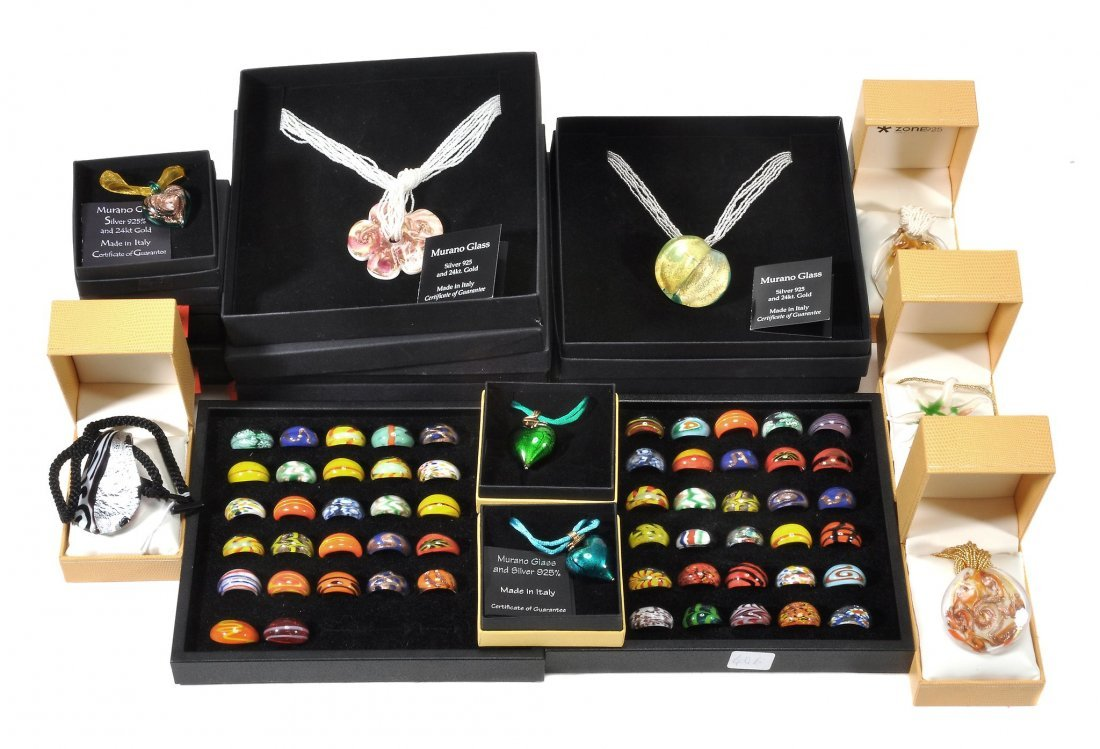 A selection of Murano glass jewellery