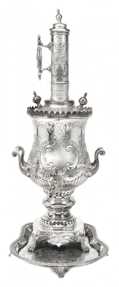An extensive late Victorian electro-plated tea service