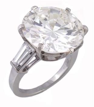 A diamond single stone ring by Bulgari, the brilliant