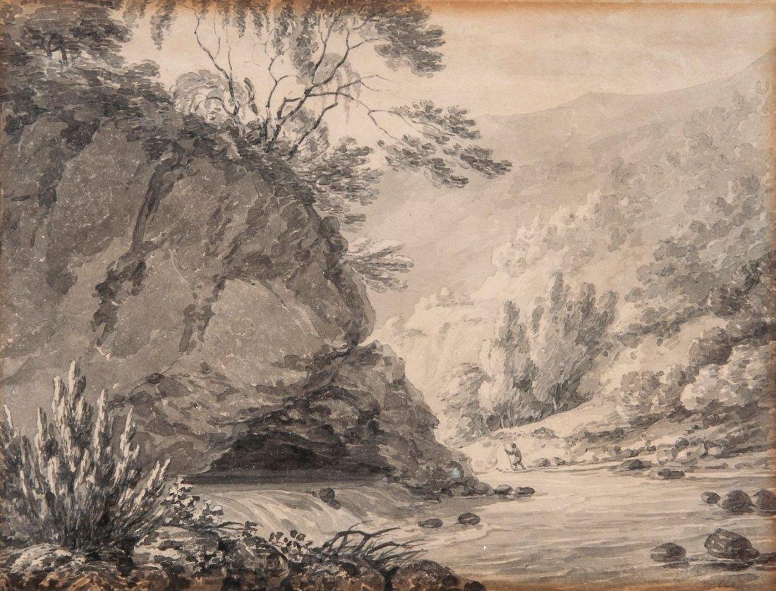 Thomas Hearne (1744-1817) - On the Gretna near Keswick,