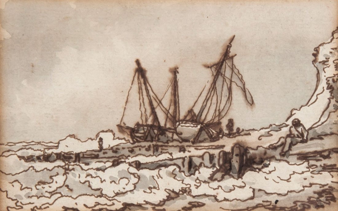 Philip James de Loutherbourg (1740-1812) - Boats at