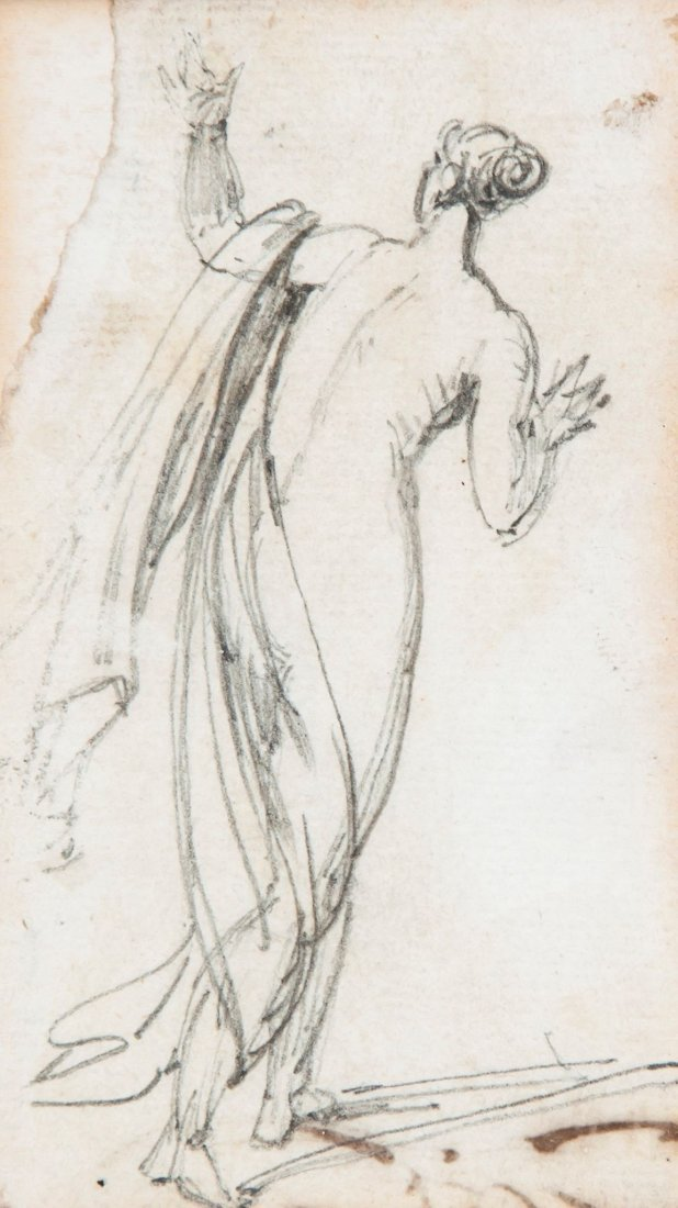 George Chinnery (1774-1852) - Draped figure standing,