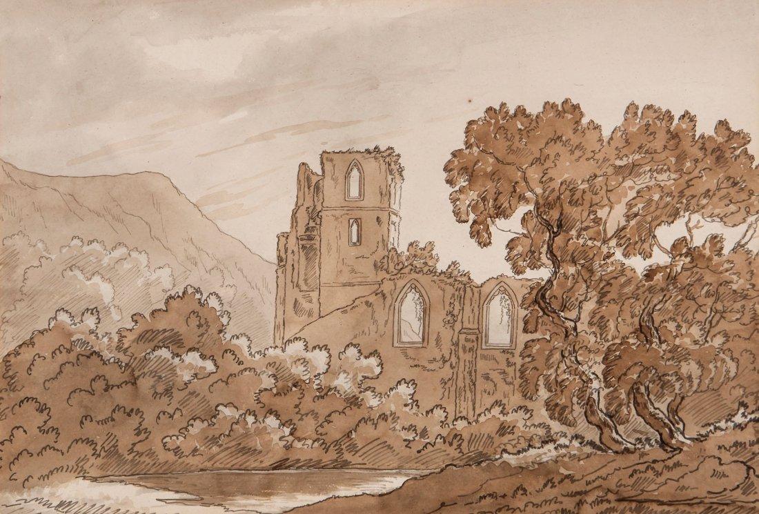 English School (19th Century) - Coity Castle, Glamorgan;