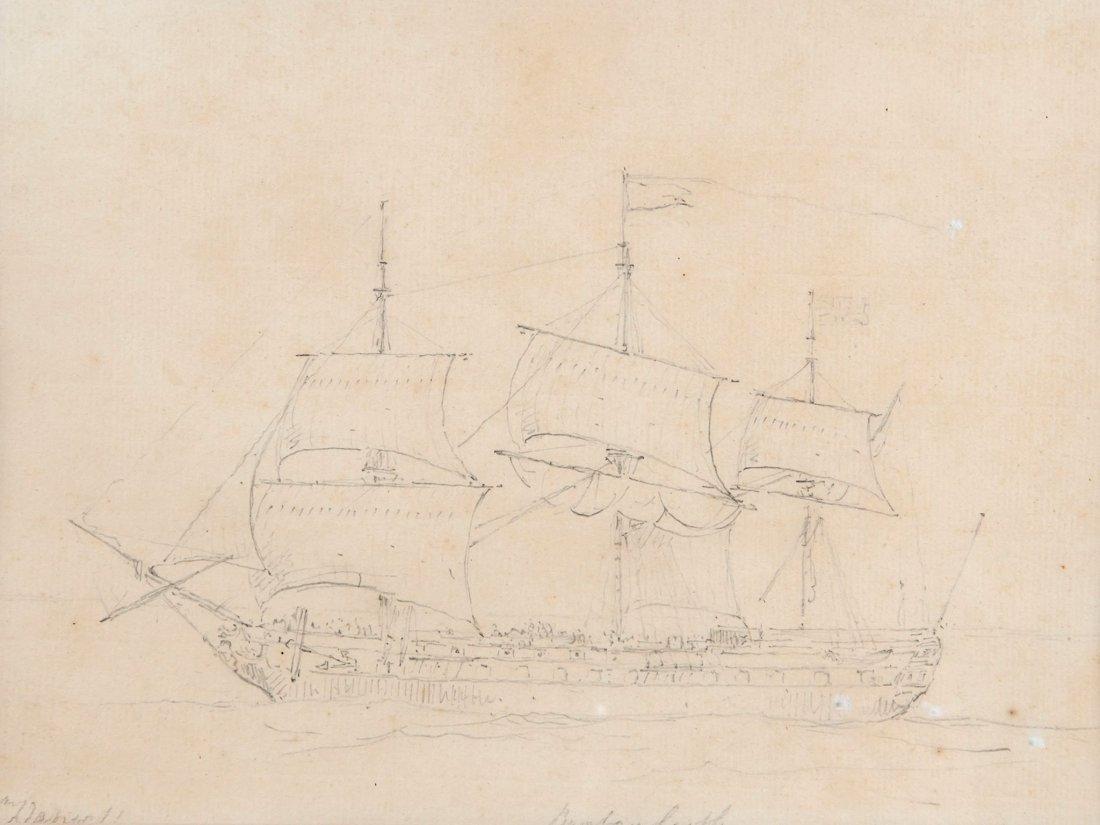 William Daniell (1769-1837) - The Bombay Castle,