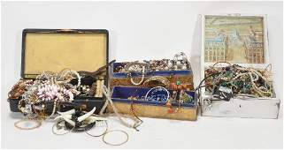A collection of costume jewellery , including various