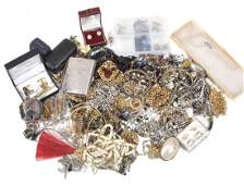 A collection of costume jewellery , including rings;