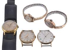 Five assorted wristwatches, to include: a Rotary lady's