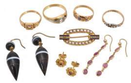 A small collection of jewellery , to include a