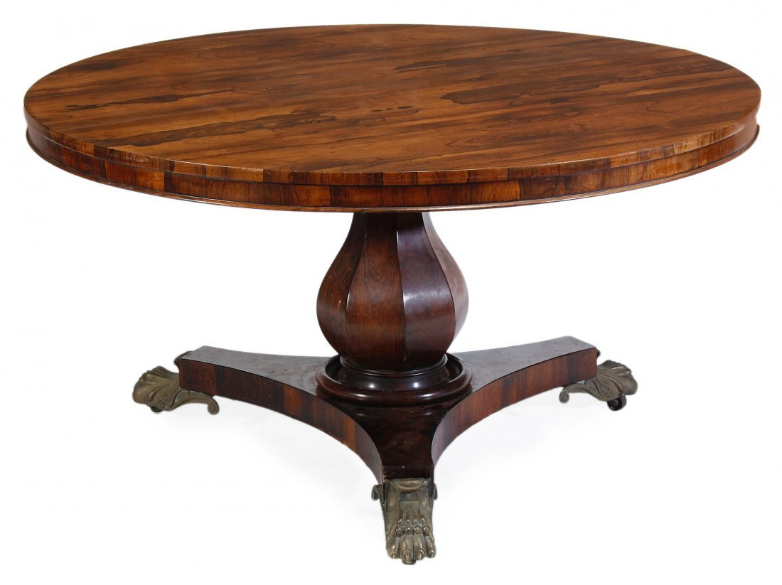 A Victorian rosewood centre table, circa 1880
