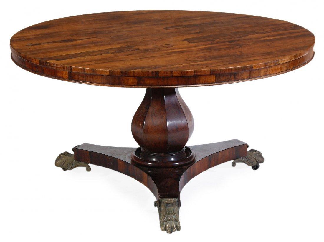 A Victorian rosewood centre table, circa 1880